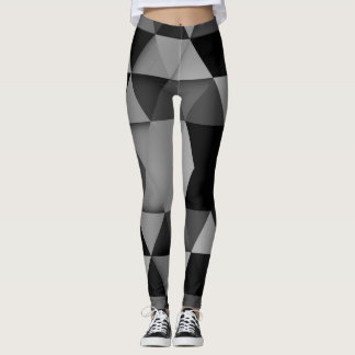 black grey white leggings
