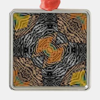 Black Grey Zebra Abstract Ornament