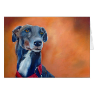 Black Greyhound art card (a395)