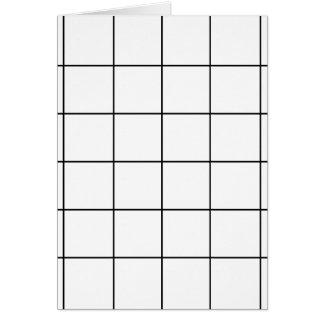 black grid ,   white background card