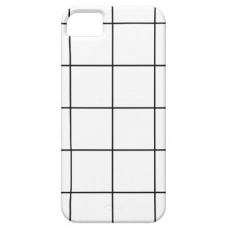 black grid ,   white background case for the iPhone 5