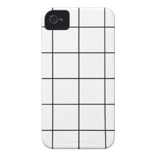 black grid ,   white background iPhone 4 Case-Mate case