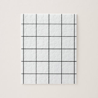 black grid ,   white background jigsaw puzzle