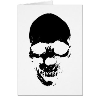 Black Grim Reaper Skull Card