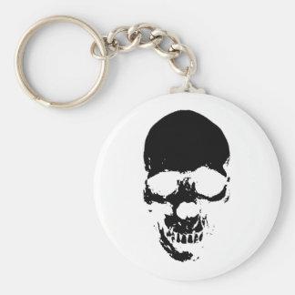 Black Grim Reaper Skull Keychain