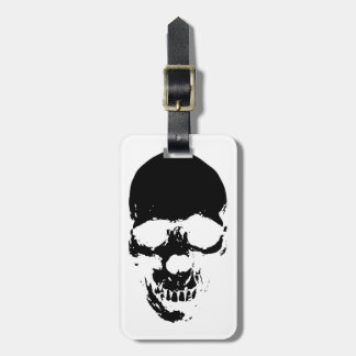 Black Grim Reaper Skull Luggage Tag