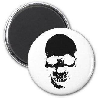 Black Grim Reaper Skull Magnet