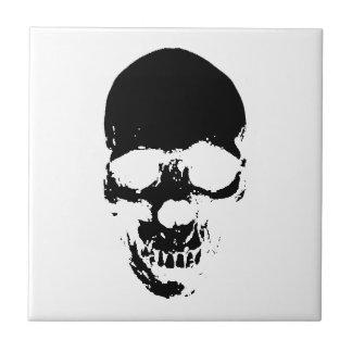 Black Grim Reaper Skull Tile