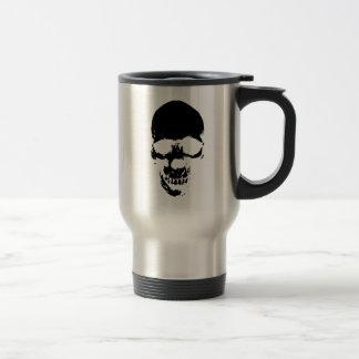 Black Grim Reaper Skull Travel Mug