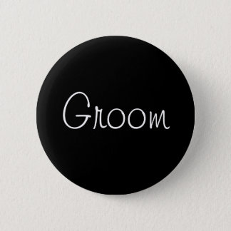 Black Groom Pin