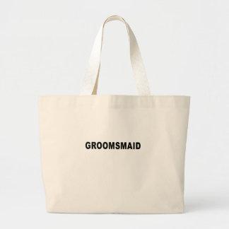 Black groomsmaid groom groomsman wedding T-Shirts. Canvas Bags
