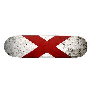 Black Grunge Alabama State Flag Skateboards