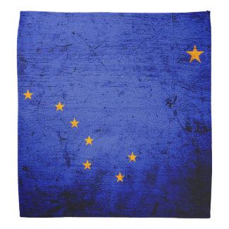 Black Grunge Alaska State Flag Bandannas