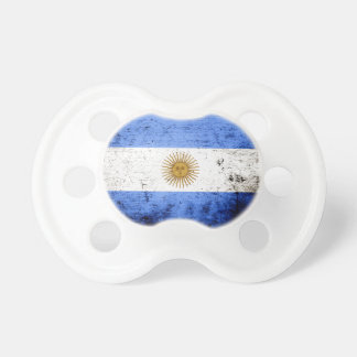 Black Grunge Argentina Flag Pacifiers