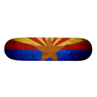 Black Grunge Arizona State Flag Skate Board Deck