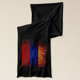 Black Grunge Armenia Flag Scarf