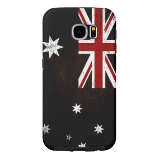 Black Grunge Australia Flag 2 Samsung Galaxy S6 Cases