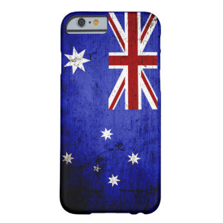 Black Grunge Australia Flag Barely There iPhone 6 Case
