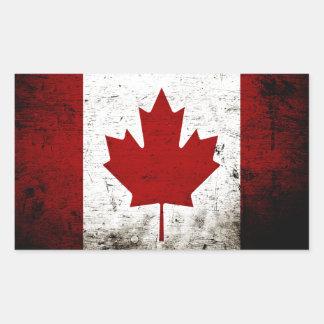 Black Grunge Canada Flag