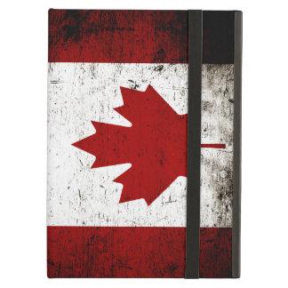 Black Grunge Canada Flag iPad Air Case