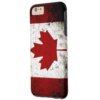 Black Grunge Canada Flag Tough iPhone 6 Plus Case