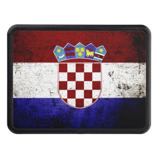 Black Grunge Croatia Flag Hitch Cover