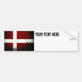 Black Grunge Denmark Flag Bumper Sticker