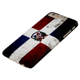 Black Grunge Dominican Republic Flag Barely There iPhone 6 Plus Case