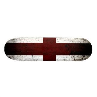 Black Grunge England Flag 2 Custom Skate Board