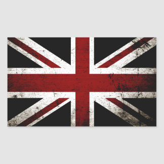 Black Grunge England Flag 3 Sticker