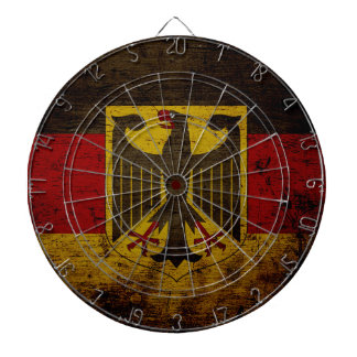 Black Grunge Germany Flag Dartboards