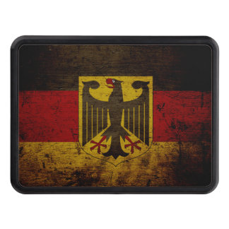 Black Grunge Germany Flag Hitch Cover