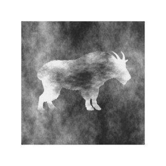 Black Grunge Goat Canvas Print