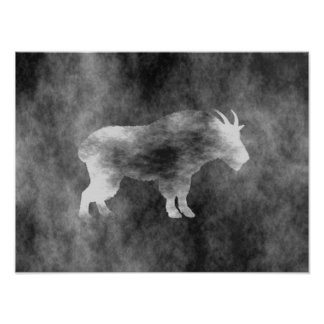 Black Grunge Goat Poster