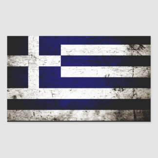 Black Grunge Greece Flag Sticker