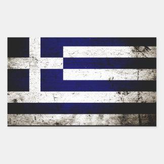 Black Grunge Greece Flag Sticker