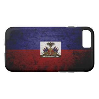 Black Grunge Haiti Flag iPhone 7 Case