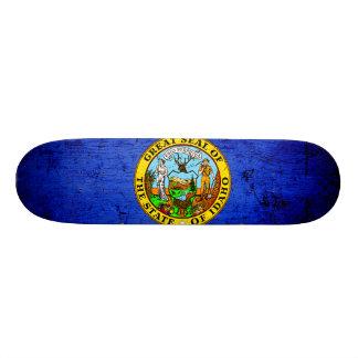 Black Grunge Idaho State Flag Skate Decks