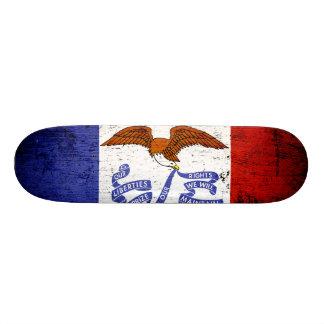 Black Grunge Iowa State Flag Skateboards