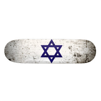 Black Grunge Israel Flag Skateboards