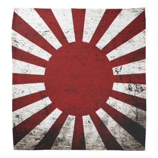 Black Grunge Japan Rising Sun Flag Bandana