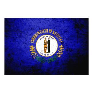 Black Grunge Kentucky State Flag Photo