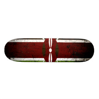 Black Grunge Kenya Flag Custom Skateboard