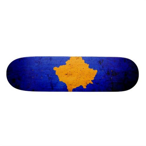 Black Grunge Kosovo Flag Custom Skate Board