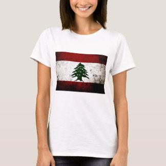 Black Grunge Lebanon Flag T-Shirt