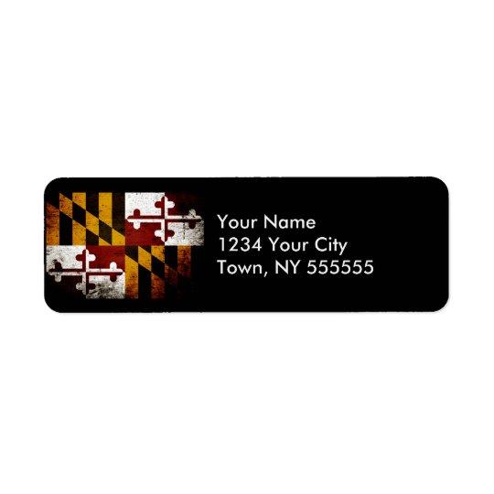 Black Grunge Maryland State Flag