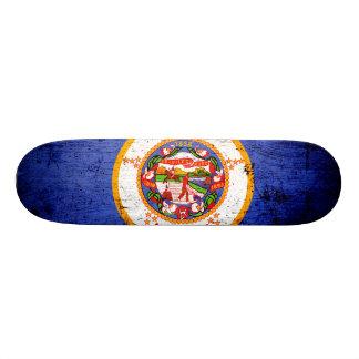 Black Grunge Minnesota State Flag Skate Boards