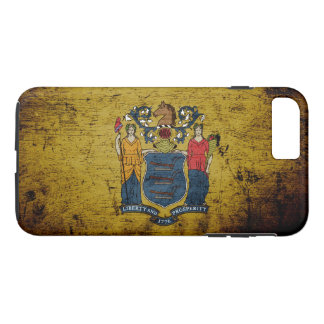Black Grunge New Jersey State Flag iPhone 7 Plus Case