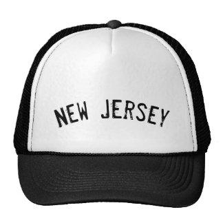 Black Grunge New Jersey Trucker Hat