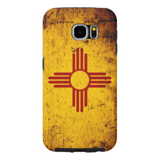 Black Grunge New Mexico State Flag Samsung Galaxy S6 Cases